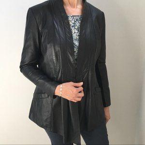 Danier Leather Jacket Blazer Open Front